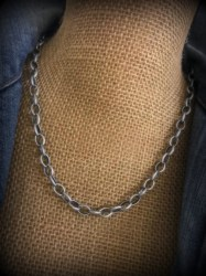 Simple Pewter Chain